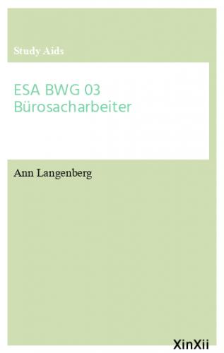 ESA BWG 03 Bürosacharbeiter