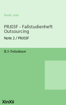 PRJ03F - Fallstudienheft Outsourcing