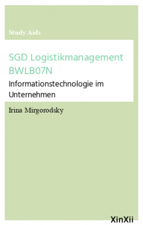 SGD Logistikmanagement BWLB07N