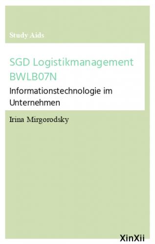 SGD Logistikmanagement BWLB07N