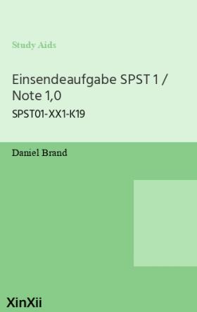 Einsendeaufgabe SPST 1 / Note 1,0
