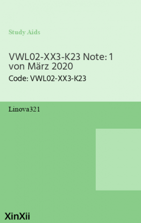 VWL02-XX3-K23 Note: 1 von März 2020
