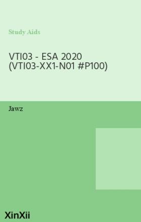 VTI03 - ESA 2020 (VTI03-XX1-N01 #P100)