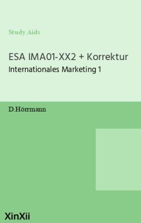 ESA IMA01-XX2 + Korrektur