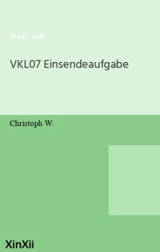 VKL07 Einsendeaufgabe