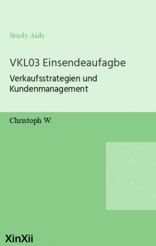 VKL03 Einsendeaufagbe