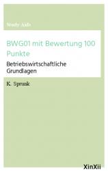 BWG01 mit Bewertung 100 Punkte