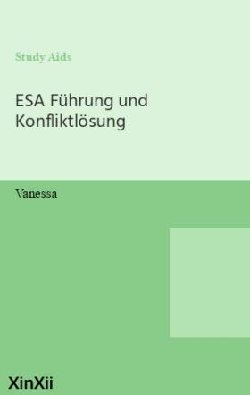 ESA Führung und Konfliktlösung