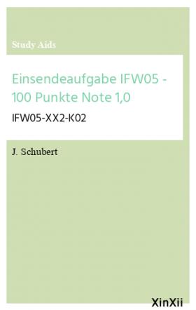Einsendeaufgabe IFW05 - 100 Punkte Note 1,0
