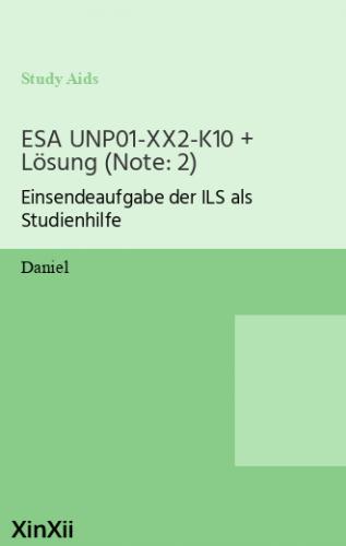 ESA UNP01-XX2-K10 + Lösung (Note: 2)