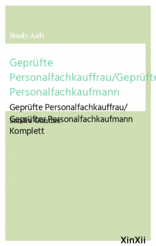 Geprüfte Personalfachkauffrau/Geprüfter Personalfachkaufmann