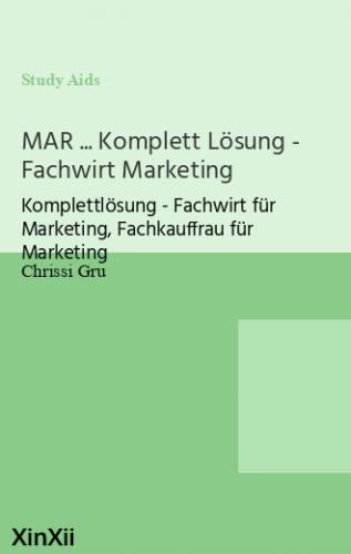 MAR ... Komplett Lösung - Fachwirt Marketing