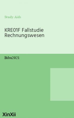 KRE01F Fallstudie Rechnungswesen