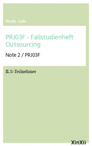 PRJ03F - Fallstudienheft Outsourcing