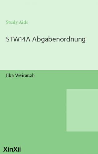 STW14A Abgabenordnung