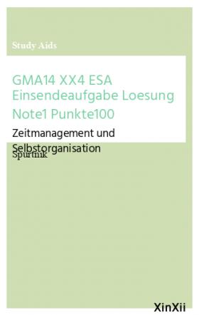 GMA14 XX4 ESA Einsendeaufgabe Loesung Note1 Punkte100