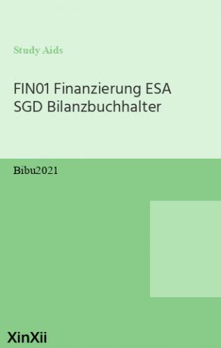FIN01 Finanzierung ESA SGD Bilanzbuchhalter