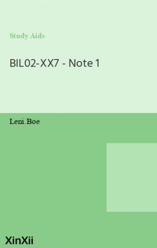 BIL02-XX7 - Note 1