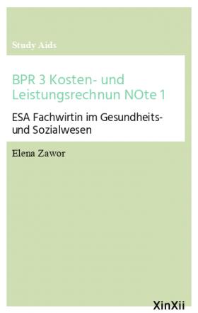 BPR 3 Kosten- und Leistungsrechnun NOte 1