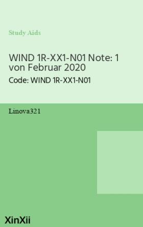 WIND 1R-XX1-N01 Note: 1 von Februar 2020
