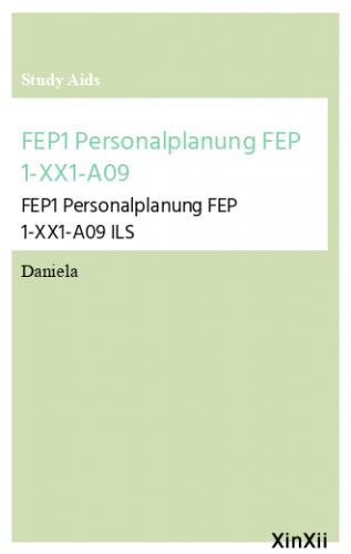 FEP1 Personalplanung FEP 1-XX1-A09