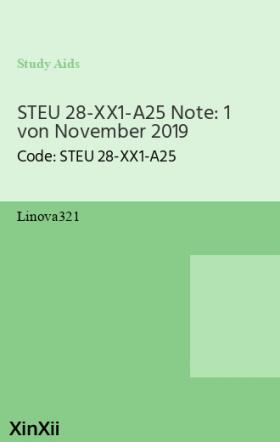 STEU 28-XX1-A25 Note: 1 von November 2019