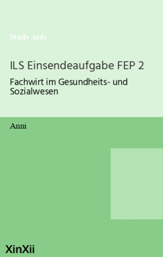 ILS Einsendeaufgabe FEP 2