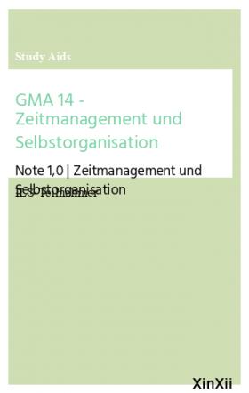 GMA 14 - Zeitmanagement und Selbstorganisation