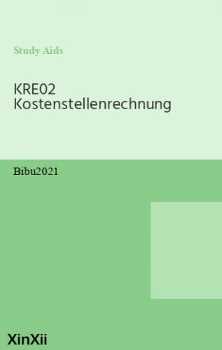 KRE02 Kostenstellenrechnung