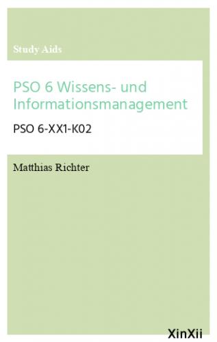 PSO 6 Wissens- und Informationsmanagement