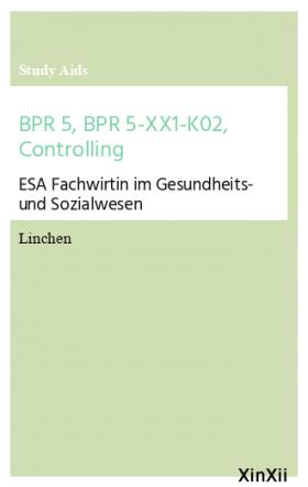 BPR 5, BPR 5-XX1-K02, Controlling