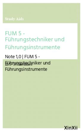 FUM 5 - Führungstechniker und Führungsinstrumente
