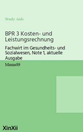 BPR 3 Kosten- und Leistungsrechnung