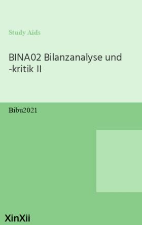 BINA02 Bilanzanalyse und -kritik II