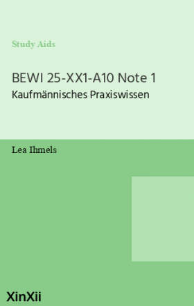 BEWI 25-XX1-A10 Note 1