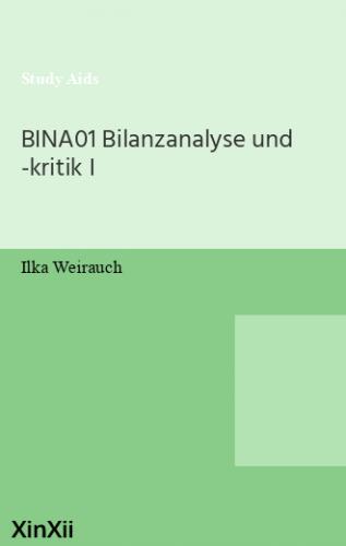 BINA01 Bilanzanalyse und -kritik I