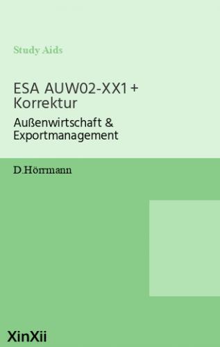 ESA AUW02-XX1 + Korrektur