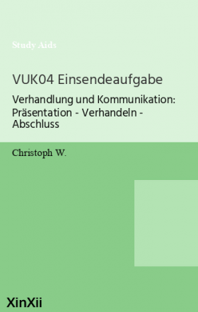 VUK04 Einsendeaufgabe