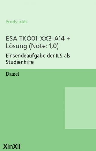 ESA TKÖ01-XX3-A14 + Lösung (Note: 1,0)