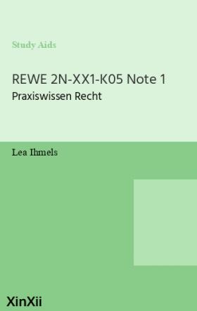 REWE 2N-XX1-K05 Note 1