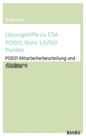 Lösungshilfe zu ESA POE01, Note 1,0/100 Punkte