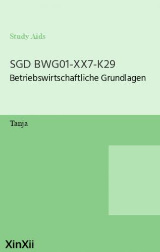 SGD BWG01-XX7-K29