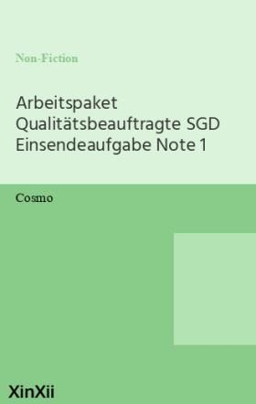 Arbeitspaket Qualitätsbeauftragte SGD Einsendeaufgabe Note 1