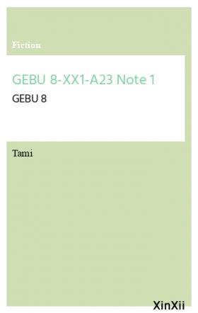 GEBU 8-XX1-A23 Note 1