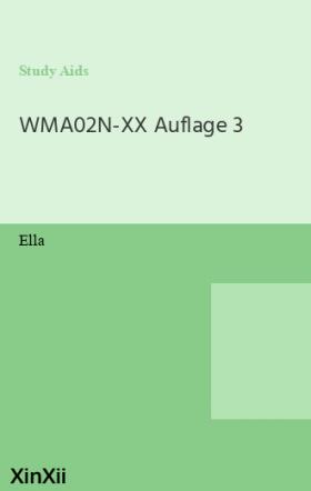 WMA02N-XX Auflage 3