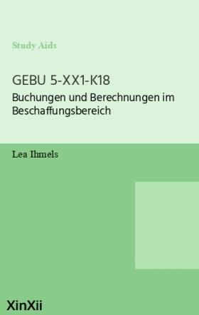 GEBU 5-XX1-K18