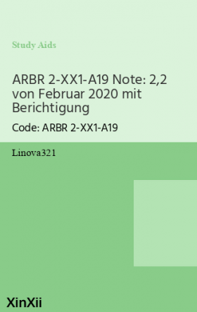 ARBR 2-XX1-A19 Note: 2,2 von Februar 2020 mit Berichtigung