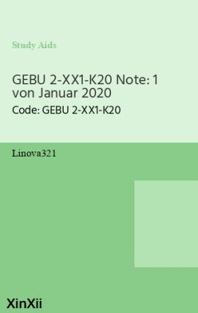 GEBU 2-XX1-K20 Note: 1 von Januar 2020
