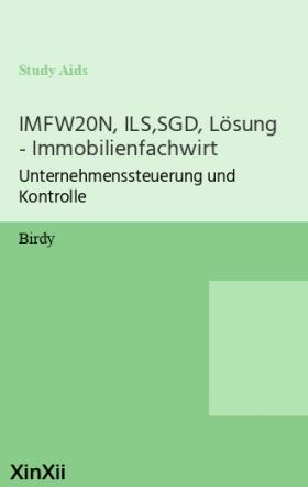IMFW20N, ILS,SGD, Lösung - Immobilienfachwirt