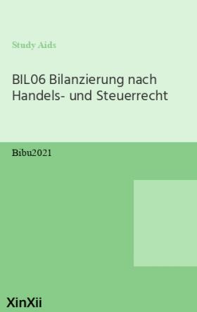 BIL06 Bilanzierung nach Handels- und Steuerrecht